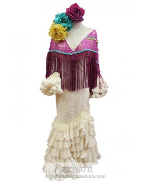Encaje vestido señora